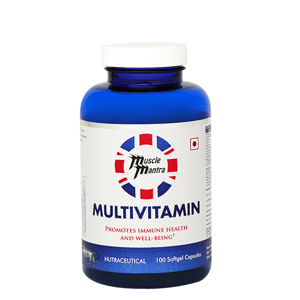 Musclemantra Multivitamin 100 softgel Capsules - Muscle Mantra