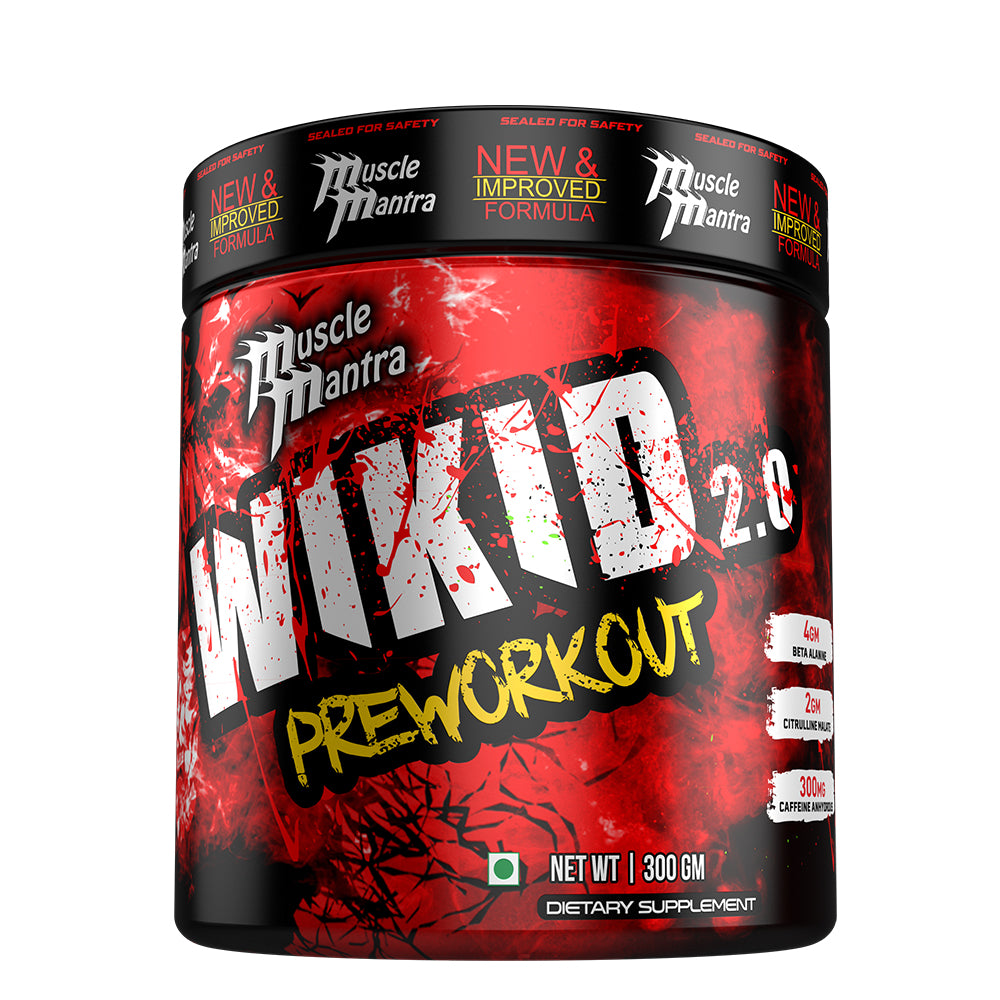 Musclemantra Wikid 2.0 Pre-Workout 300gm - Muscle Mantra