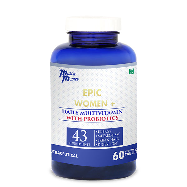 MUSCLEMANTRA EPIC WOMEN + (60 VEG TABLETS) - Muscle Mantra