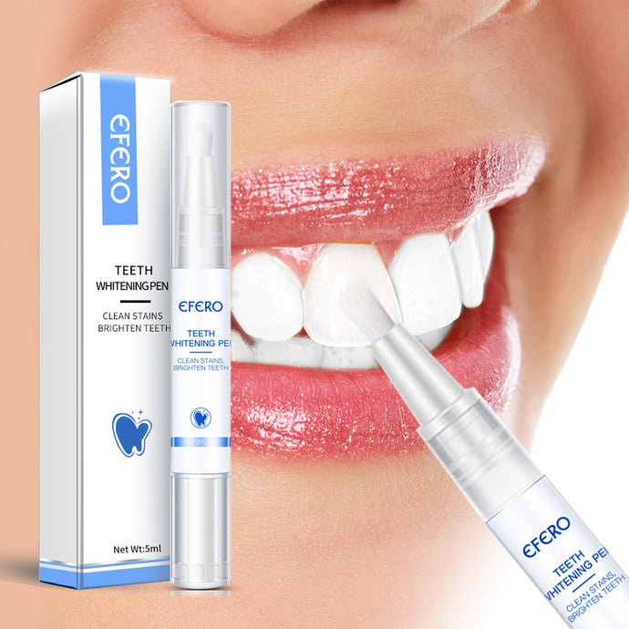 EFERO Teeth Whitening Pen Cleaning Serum Remove Plaque Stains Dental Tools Whiten Teeth Oral Hygiene Tooth Whitening Pen 1Pcs