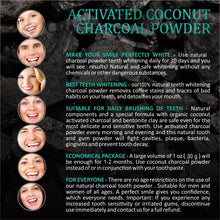 Load image into Gallery viewer, Natural Activated Coconut Charcoal Teeth Whitening Toothpaste