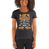 Life Ups and Downs Ladies' short sleeve t-shirt (yellow print)