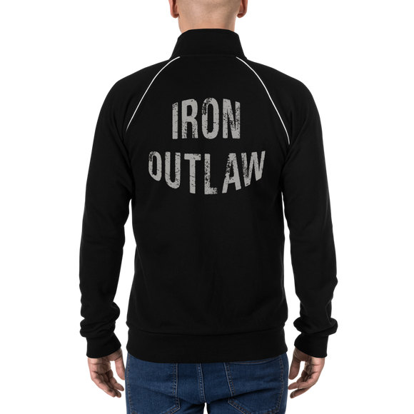 Iron Outlaw (grey) - Piped Fleece Jacket