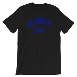 Gainz Day Short-Sleeve Unisex T-Shirt (Blue Print)