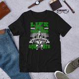 Life Ups and Downs Short-Sleeve Unisex T-Shirt (Green Print) - The Iron Cowboy