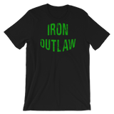 Iron Outlaw Short-Sleeve Unisex T-Shirt (Green Print) - The Iron Cowboy