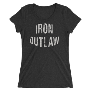 Iron Outlaw Ladies' short sleeve t-shirt (grey print)