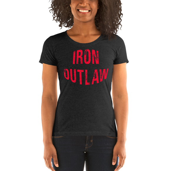 Iron Outlaw Ladies' short sleeve t-shirt (red print)