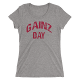 Gainz Day Ladies' short sleeve t-shirt (red print) - The Iron Cowboy