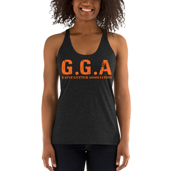 Gainz Getter Association Women's Racerback Tank - The Iron Cowboy