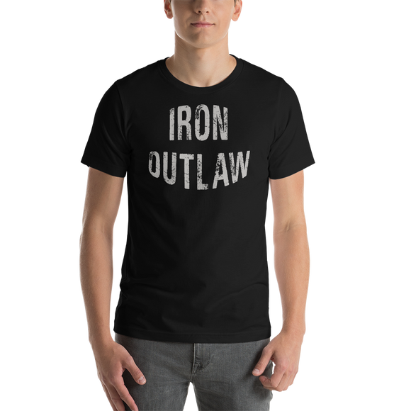 Iron Outlaw Short-Sleeve Unisex T-Shirt (Grey Print)
