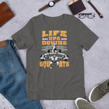 Life Ups and Downs Short-Sleeve Unisex T-Shirt (Yellow Print)
