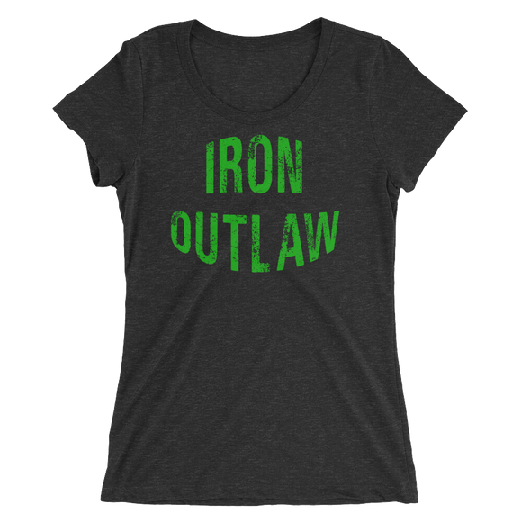 Iron Outlaw Ladies' short sleeve t-shirt (green print)