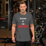 Beware Of The Beast Short-Sleeve Unisex T-Shirt - The Iron Cowboy