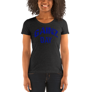 Gainz Day Ladies' short sleeve t-shirt (blue print)