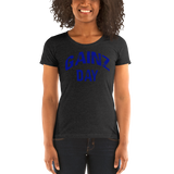 Gainz Day Ladies' short sleeve t-shirt (blue print) - The Iron Cowboy