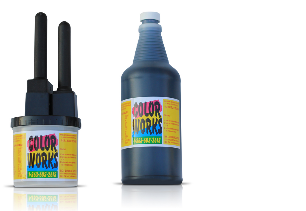 32oz Ink Bottle With 2 Pen Set - Multiple Color Variations!