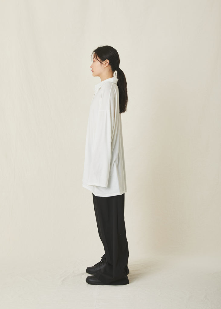 Unisex Oversized Open Collar T-Shirt