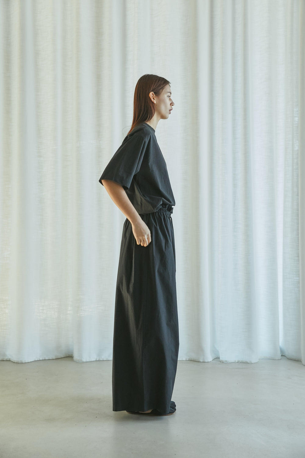 SS21 UNISEX SHIRRING WIDE PANTS