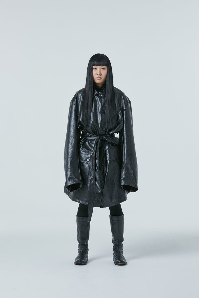 [Pre-Order 20% OFF until 10/25] FW20 Unisex Padded Synthetic Leather Coat