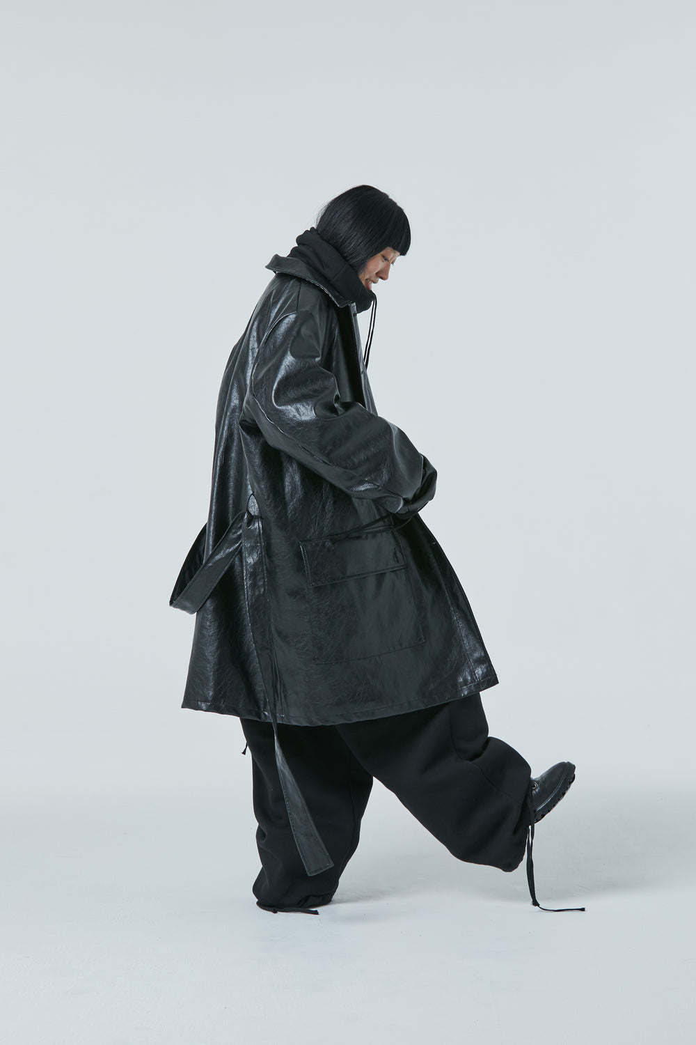 [Off season discount] FW20 Unisex Padded Synthetic Leather Coat