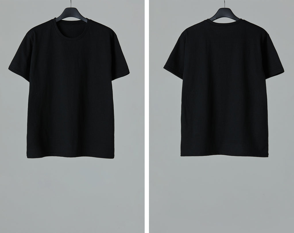 SS21 UNISEX BASIC BLACK T-SHIRT