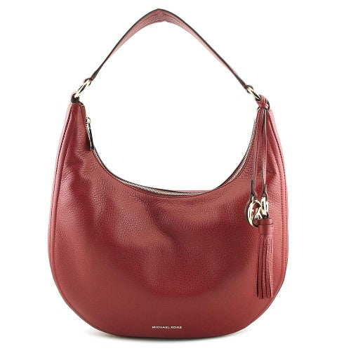 436742201566 MICHAEL Michael Kors Lydia Leather Shoulder Bag Mulberry – TNT Closeouts
