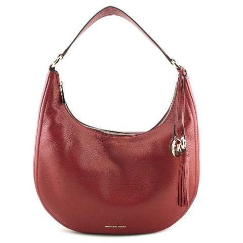 49fbb5d89ecd MICHAEL Michael Kors Lydia Leather Shoulder Bag Mulberry – TNT Closeouts