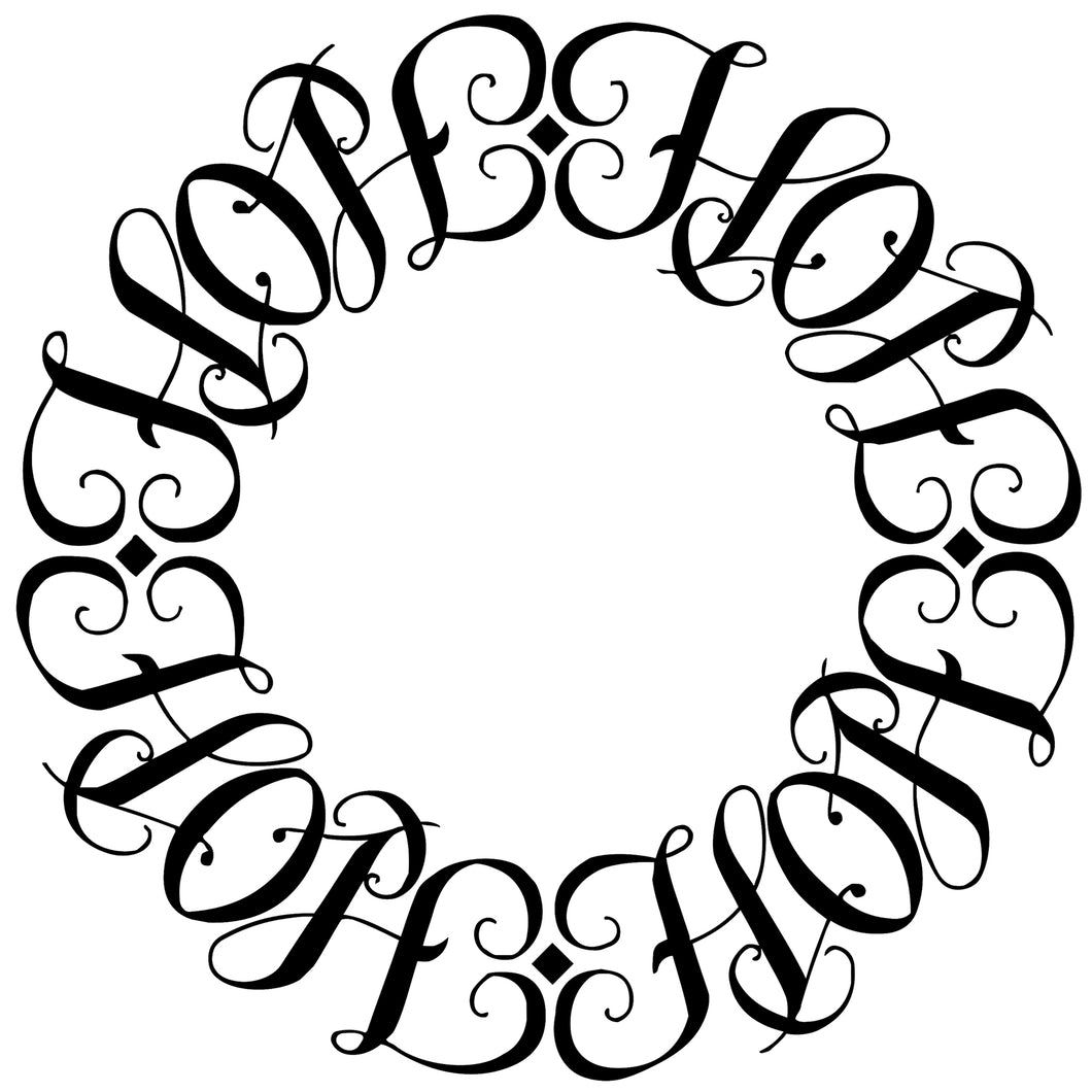 Hope Circle Ambigram Tattoo Instant Download (Design + Stencil) - Wow Tattoos