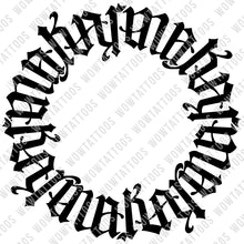 Load image into Gallery viewer, Karma Circle Ambigram Tattoo Instant Download (Design + Stencil) - Wow Tattoos