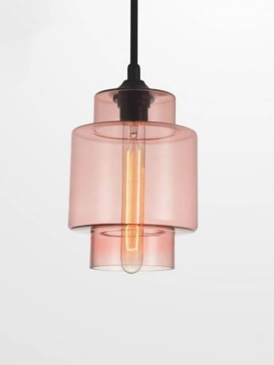 Fancy Multi-color Glass Ceiling Lamp | Foyer
