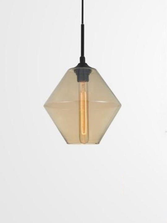Hexagon-Shaped Glass Ceiling Lamp | Urban Design