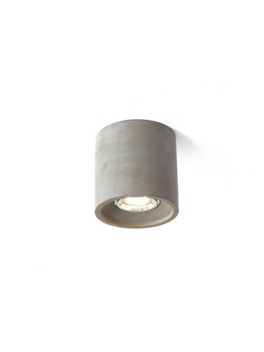 Grey LED Concrete Ceiling Mounted Light | Balcony Lamp