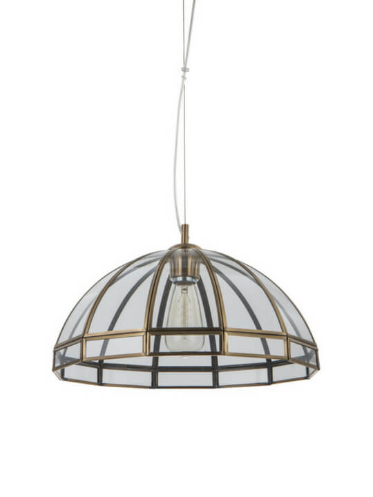 Dome-shaped Copper Pendant Light | Retro Design