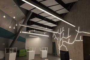 Modern Office T8 LED Linear Light | Aluminium