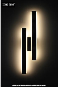 Hude Black LED Art Wall | Modern Design