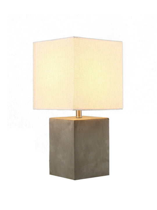 White Square Table Lamp | Zen Style