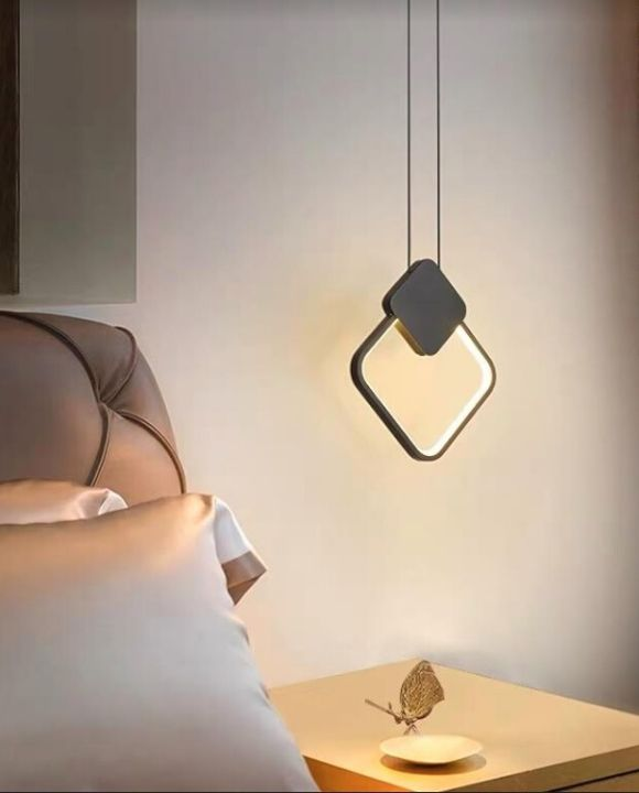 Giuelitta Black Square LED Pendant Light | Urban Series