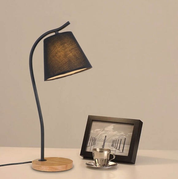 Rustic Wooden Table Lamp | Modern Design