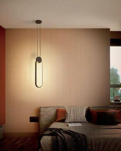 Giuelitta Black Oval LED Pendant Light | Urban Series