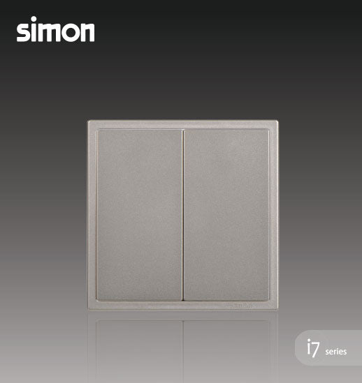 Simon i7 Series 16A 2 Gang 1 Way - Golden Champagne