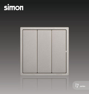 Simon i7 Series 16A 3 Gang 1 Way - Golden Champagne