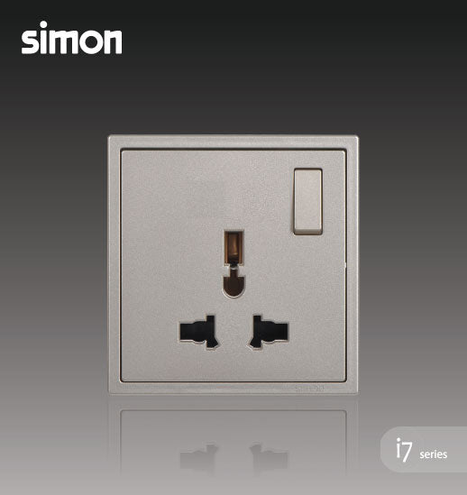 Simon i7 Series 13A Universal Switch Socket Outlet - Golden Champagne