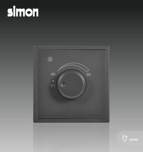 Simon i7 500W Rotary Dimmer (Incandescent Bulb) - Graphite Black