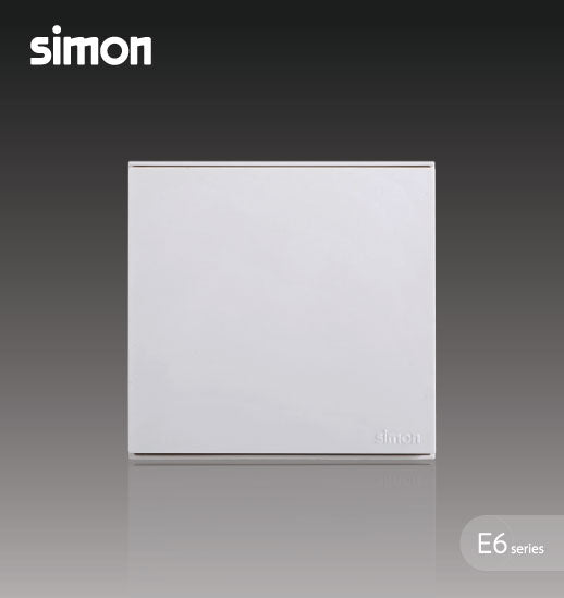 Simon E6 Series 16A 1 Gang 1 Way Switch - White