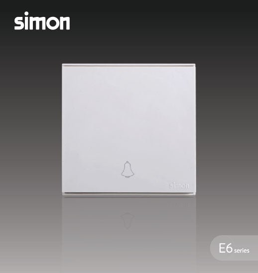 Simon E6 Series 16A 1 Gang Doorbell Switch -White