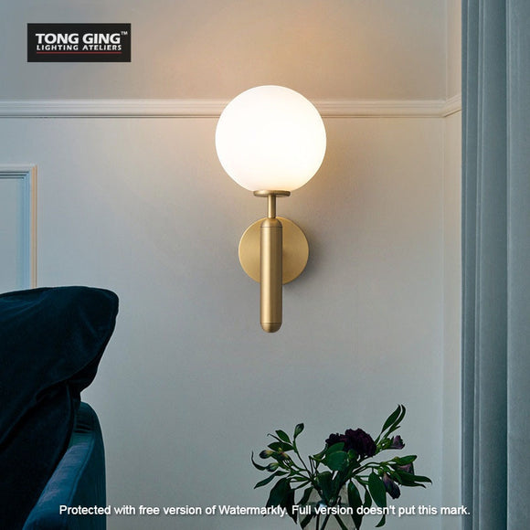 Lees Gold Ball Wall Light | Urban Series