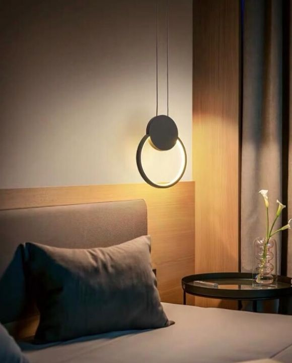 Giuelitta Black Round LED Pendant Light | Urban Series