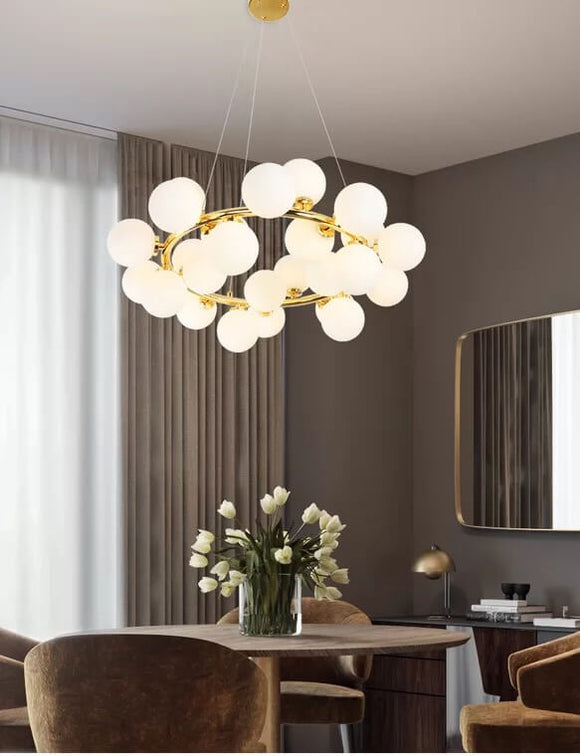 Trendy Gold Glass Balls Chandelier | Designer Series