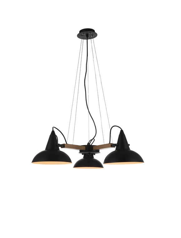 Stylish Ceiling Lamp | Black and Wood